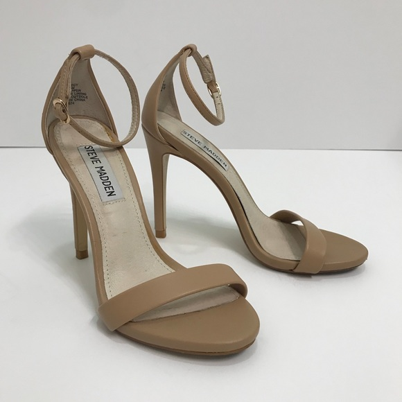 b27e4cc90ad Steve Madden Shoes - Steve Madden Stecy Ankle Strap Heel - Natural 5